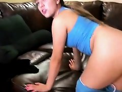 Pretty College Ex Girlfriend Getting Plowed On The Sofa