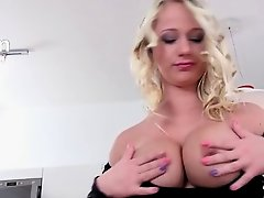 titty blonde with luxury pussy