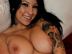 Nice-Looking bigtits emo beauty dildoing enjoyment