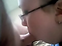 Cute non-professional nerdy girlfriend gets bawdy and wild on cam