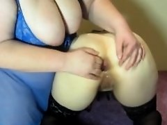 Lesbian with big tits fucked me in the ass hand. anal fisting