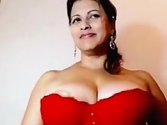 Breasty bumpers Sumitra aunty in her 2nd mms movie