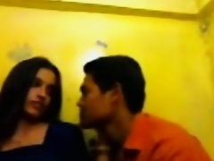 Desi Paramour Smooch Exposed Kiss In Room